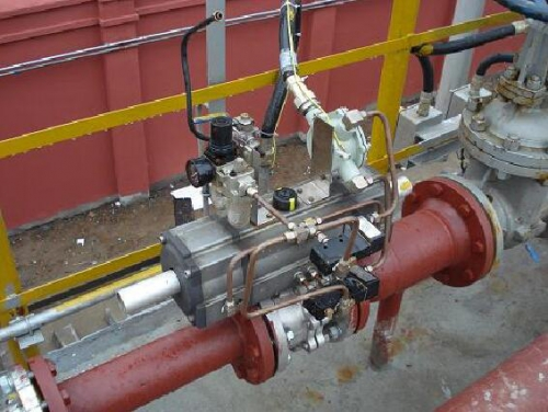 Application case of BQ641F-16P flange cut ball valve in power plant pipeline